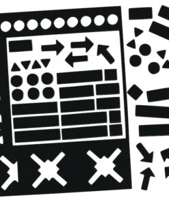 magnetsymboler svart