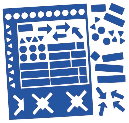 magnetsymboler blå