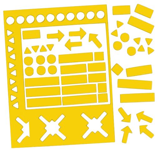 magnetsymboler gul