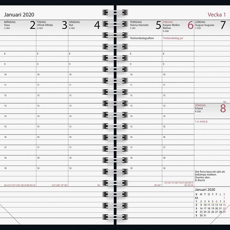 Skrivbord Blå   2020 Köp Almanacka online specialbutik