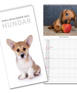 Hundar familjekalender från Gullers